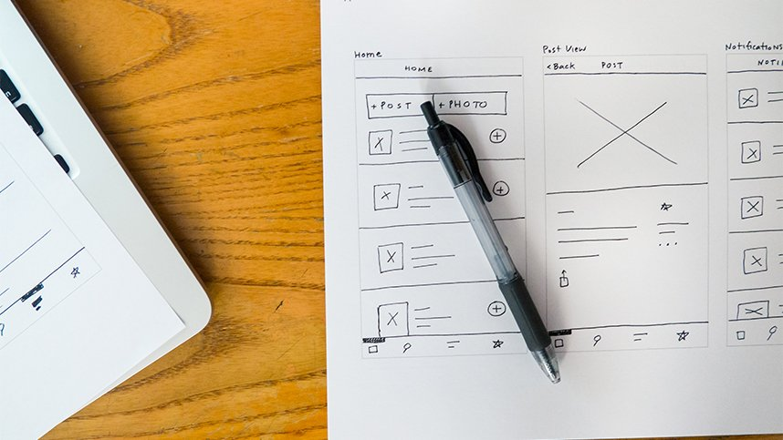 Ejemplo de Wireframe para la planificación de una web