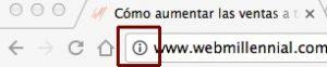 Página web sin certificado SSL Chrome 53